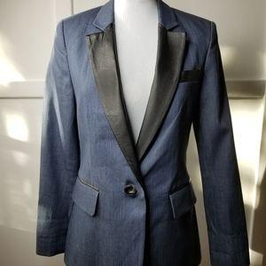 Raoul Denim &Leather Blazer